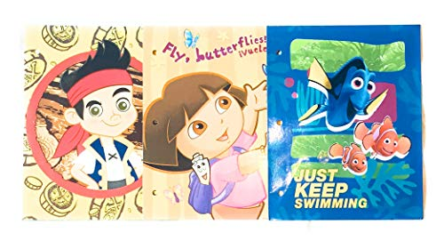 School Supplies- Classic Pocket Folders Dory, Jake, and Dora- Pack of 3 by hunted treasures