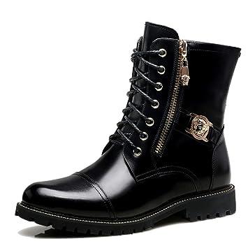 MERRYHE Mens Army Military Martin Boots Botines De Combate Desierto De Cuero Genuino Trekking Trekking Shoes High Top Work Utility Footwear: Amazon.es: ...