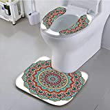 aolankaili The Toilet Condom Indian Circle Meditation Folk Spiritual Culture Print Turquoise Teal Orange Red in Bathroom Accessories