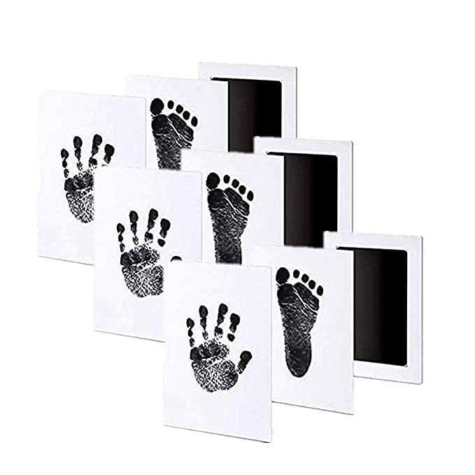 Safe kids Inkless Touch Footprint Handprint Ink Pad Mess Free Record Commemorate