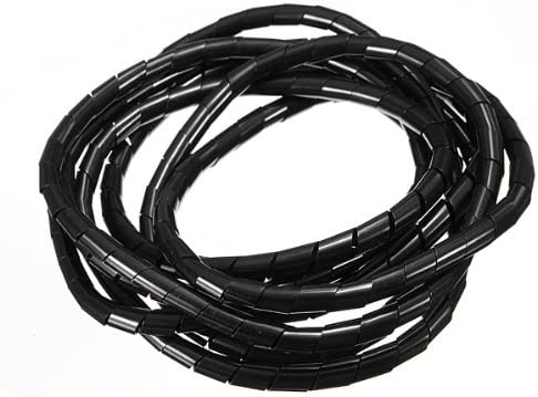 by Nollmit WHITE 2M Spiral Cable Wrap Tidy Hide Banding office computer Cinema Wire storage 6X8X10.8mm