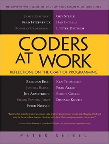 Coders at work reflections on the craft of programming 1 peter coders at work reflections on the craft of programming 1 peter seibel ebook amazon fandeluxe Choice Image