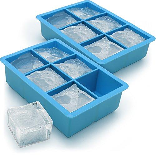 iGadgitz Home Silicone Ice Cube Tray 6 Extra Large Square Food Grade Jumbo...