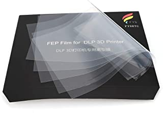 FEP Film Sheet for LCD 3D Printer, FYSETC 200 x 140mm Thickness 0.15mm High Transmittance Strength for UV 3D Printer Wanhao D7 DLP Photon LCD SLA Resin- Pack of 5