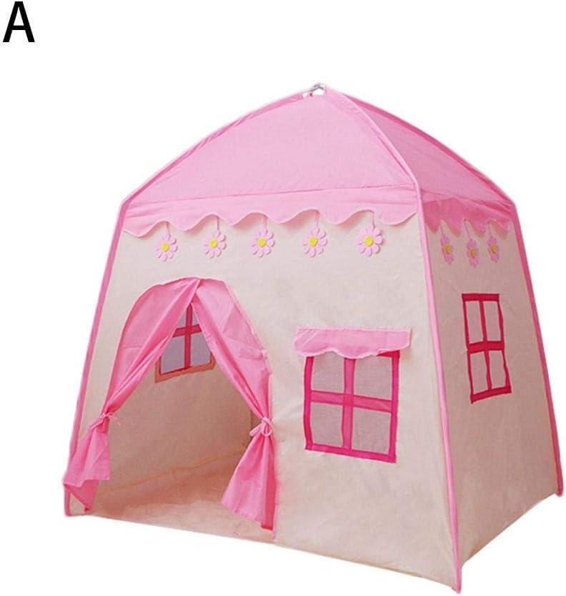 MRlegendary Castillo De La Princesa Tienda De Campaña para Niños Grandes Casa De Juego Princess Tent Girls Casa De Juegos Grande Kids Castle Play Tienda De Campaña Carpa con 51.18 37.4 51.18i