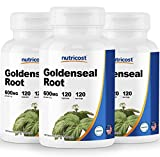 Nutricost Goldenseal Root 600mg, 120 Capsules (3 Bottles) - Non-GMO, Gluten Free, Veggie Caps