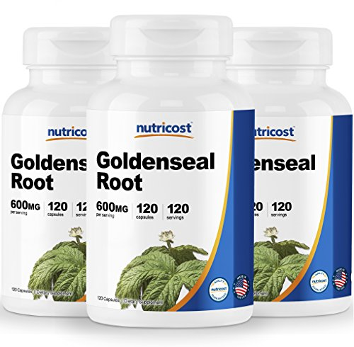 Nutricost Goldenseal Root 600mg, 120 Capsules (3 Bottles) - Non-GMO, Gluten Free, Veggie Caps by Nutricost (Image #7)
