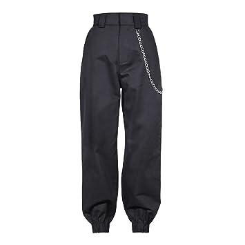 Sijux Pantalones de Carga de Mujer de Hip Hop Pantalones Harem ...
