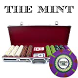 Claysmith Gaming XCSMT-500B 500 Count 'The Mint' Poker Chip Set in Aluminum Case (Black, 13.5gm)