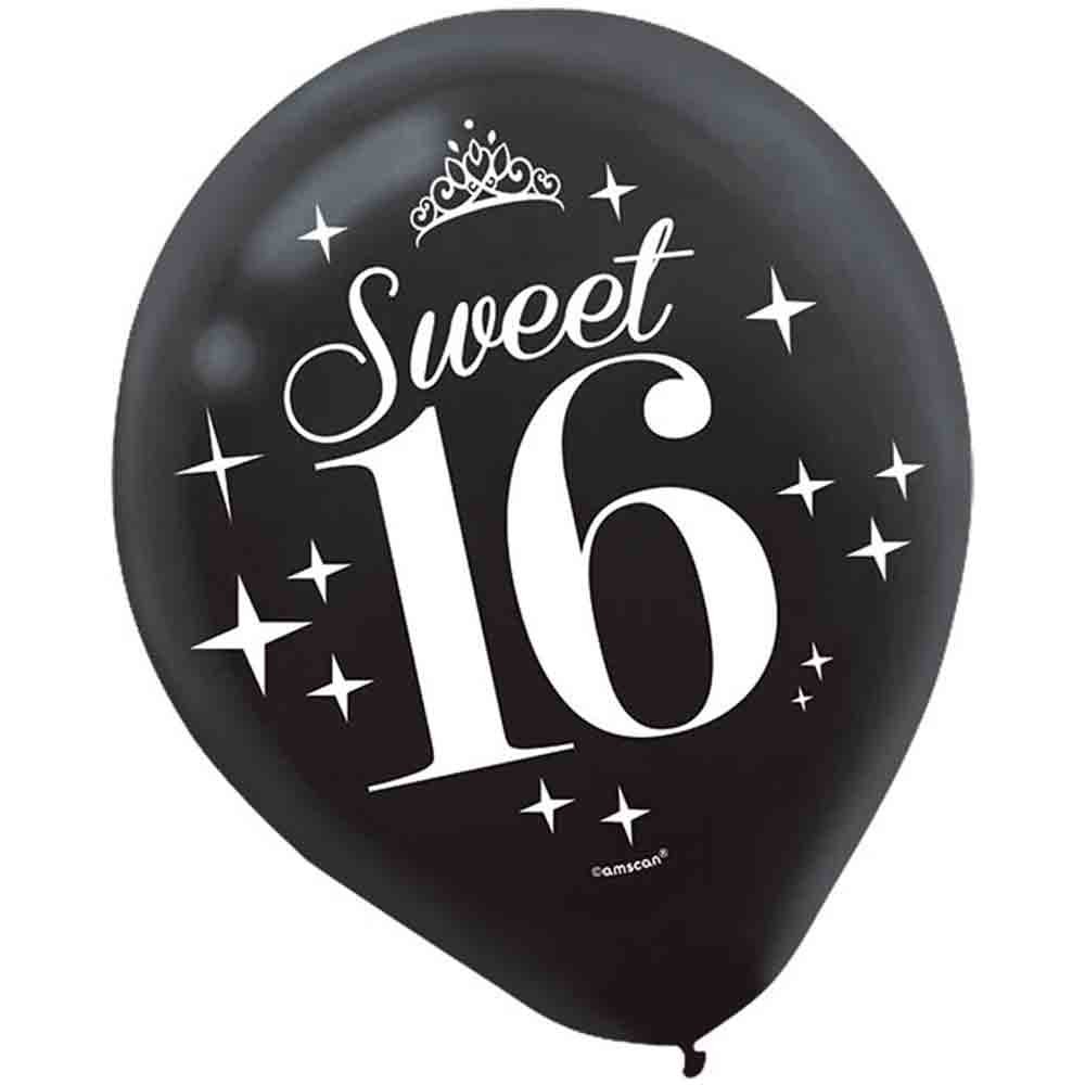 Amazon.com: 40inch Jumbo Black 16 Number Balloons For 16th