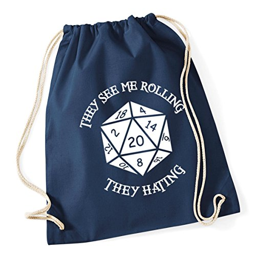 Me Kid litres See Navy French Rolling They Sack Bag Gym Cotton x HippoWarehouse School They Drawstring 46cm 37cm Hating 12 4wqExTSFA
