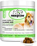 NEXPAW Calming Treats for Dogs with Melatonin - Best for Anxiety from Separation - Thunder - Travel - Safe & Natural Aid - Canine Stress Helper – 120 Wheat Free Soft Chews Dogs Love