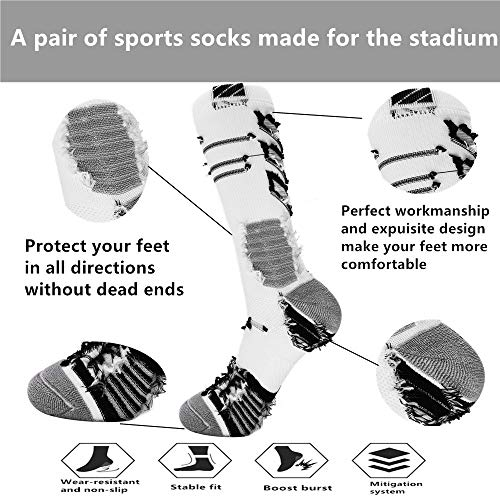 Elite Basketball Socks Breathable Outdoor Sport Cushion Crew Socks Mid-Calf Compression Athletic Socks Youth Boys Men
