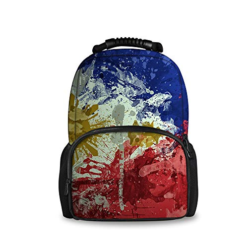 Philippines Flag Art 3D Kids Waterproof Backpack School Bags