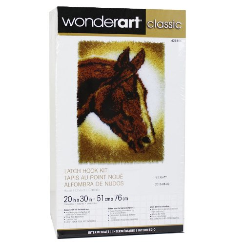 Caron Rug Kits - Caron Classics Latch-Hook Kit, Horse, 20