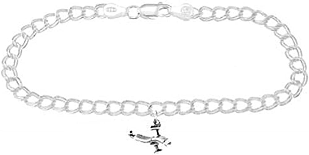 Sterling Silver Polished Owl Bracelet