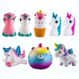 WATINC Random 3 Pcs Animal Squishy Sweet Scented Vent Charms Slow Rising squishies Kawaii Kid Toy , Lovely Stress Relief Toy, Animals Gift Fun Large(3p Horse)