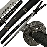 "Black ""The Last Samurai Sword"" Replica Sword Polite Courtesy Compassion Complete Sincerity with Wooden Display Stand"