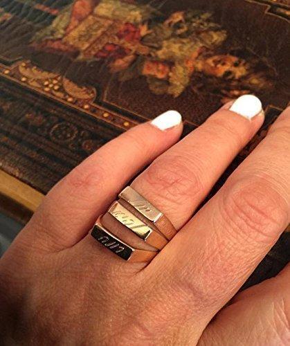 Engraved ring, Personalized Ring, men / women ring, Initial ring, Gift for women, Monogram Initial Ring, letter Ring , Pinky ring