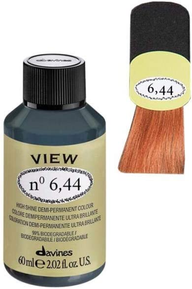 Davines View High Shine Demi-Permanent Colour 60 ml - No 6,44 ...