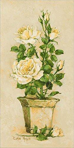 Shades of Rose II by Barbara Mock Laminated Art Print, 7 x 14 inches