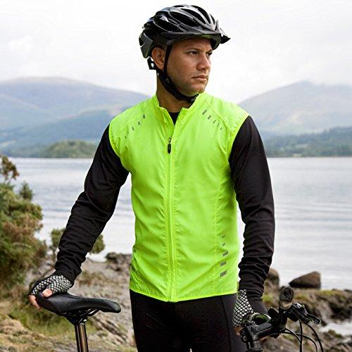 SPIRO - Gilet sans manches veste cycliste coupe-vent - S259X - jaune citron - rflchissant (L)