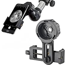 Cell Phone Adapter Mount Smartphone Adaptateur Bracket Holder Clamp Clip,Universal Compatible with Binoculars Monocular Spotting Scopes Telescopes and Microscopes--Record the Nature of the World