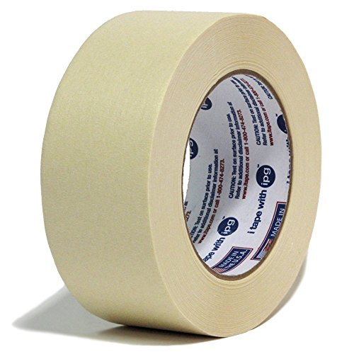 24 Rolls Intertape 513 Utility Grade Paper Masking Tape - 2 Inch X 60 Yards - Natural Beige Color - 24 rolls per case