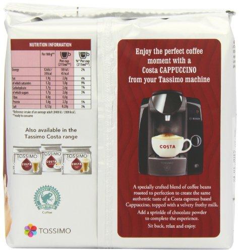 Tassimo Coffee Maker Dimensions : Tassimo Costa Cappuccino 16 T Discs, (Large Cup Size) 8 Servings, Desertcart