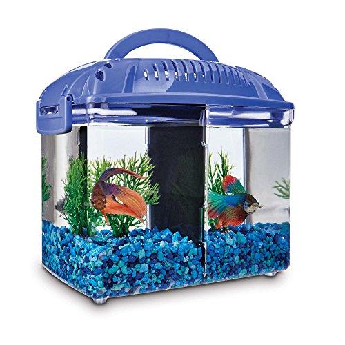 sh Dual Habitat Tank in Blue, 0.8 gal. ()