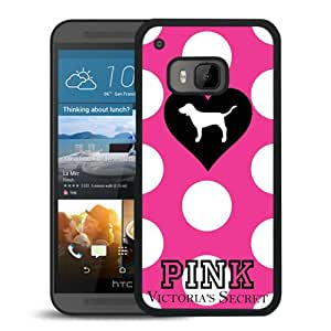 Beautiful And Durable Designed Case With victorias secret pink dog Black For HTC ONE M9 Phone Case