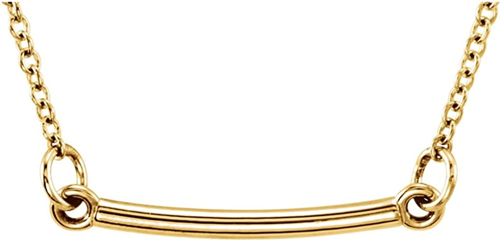 18K Yellow Gold Gold-Plated Sterling Silver Tiny Posh/Â Bar 16-18 Necklace