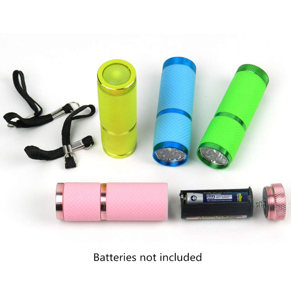 Green Mini LED Flashlight Portable 9-LED Bright Torch Light Battery Powered for Camping Hiking Cycling Walking by SamGreatWorld