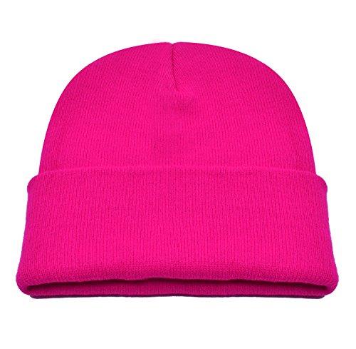 Pink Knit Beanie Hat - 2
