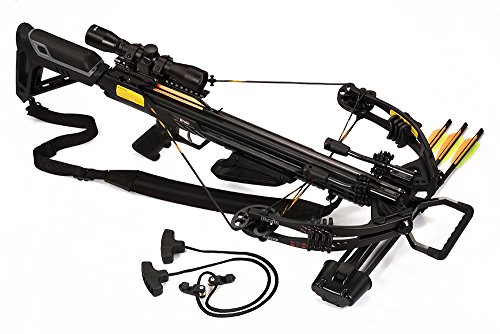 Bruin Ambush 370 Crossbow Package w/Scope, Bolts, Quiver Cocking Rope