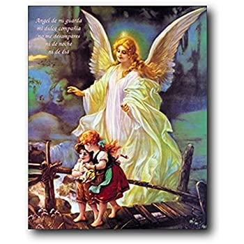 Amazon Com Wall Decor Guardian Angel With Children On