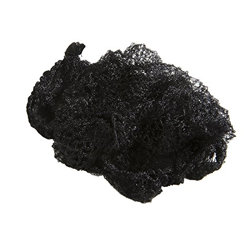 Aerborn Hairnets Heavy Weight Hair Net, Black, 2 per Pack (Net Hair Heavyweight Nylon)