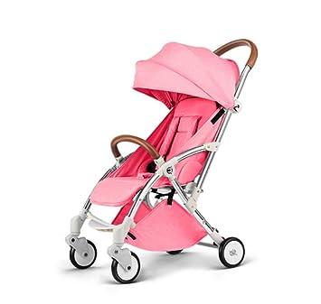 Silla de paseo plegable ligera para cochecitos de bebé y amortiguadores reclinables, cochecito de bebé