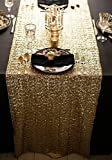 : ShinyBeauty 12x72-Inch Rectangle-Gold-Sequin Table Runner- For Wedding/Party/Decor (12x72-Inch)