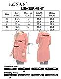 iGENJUN Women's Long Sleeve Scoop Neck Button Side