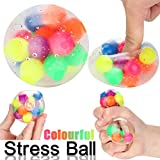 YUYOUG Stress Relief Toy, Non-toxic Colorful Sensory Toy Office Stress Ball Pressure Ball Stress Reliever Toy Magic Gift for Kids and Adults
