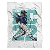500 LEVEL's Robinson Cano Soft And Warm Fleece Blanket For Seattle Baseball Fans - Robinson Cano RC22 T
