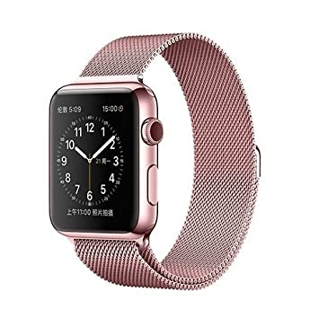Correa de acero inoxidable para reloj inteligente Apple Watch Sport Edition , Rose Pink, 42 mm: Amazon.es: Deportes y aire libre