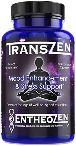TransZen   Natural Supplement - Depression & Anxiety   Boost Your Mood & Stay Stress Free   Powerful Combination of 17 Ingredients   Increase Dopamine, Serotonin, GABA - 120 Capsules