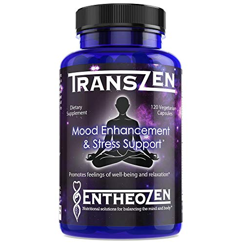 TransZen | Natural Supplement - Depression & Anxiety | Boost Your Mood & Stay Stress Free | Powerful Combination of 17 Ingredients | Increase Dopamine, Serotonin, GABA - 120 Capsules