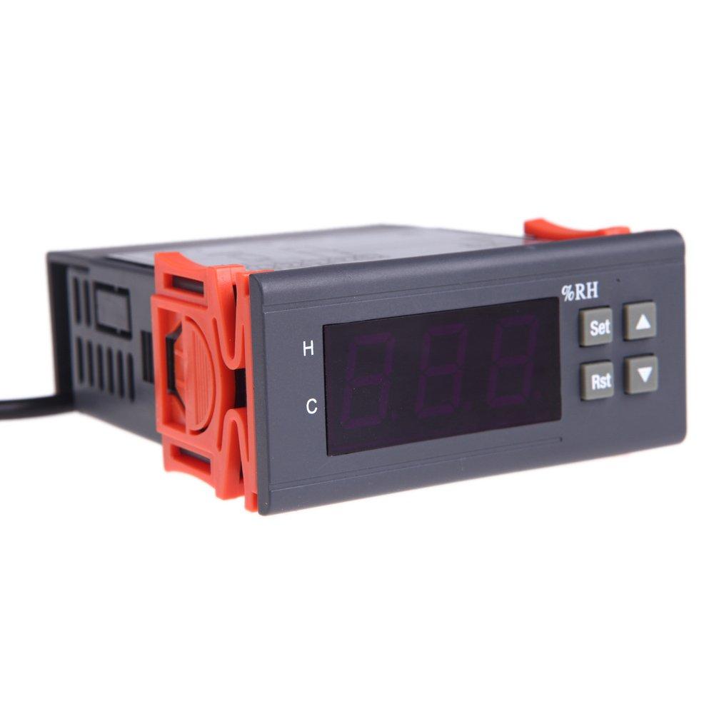 Wunes - センサとレンジの1%~99%RHの測定10A 220Vデジタル温度コントローラー空気湿度コントローラー温度計測器   B07CNJ477S