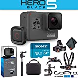 GoPro Hero5 Black with Voice Activated Remote + 64 GB Memory Card + Extreme Outdoor Action Kit