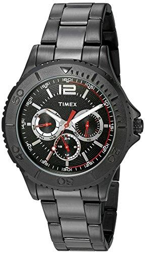 (Timex Men's TW2P87700 Taft Street Multifunction Black Stainless Steel Bracelet Watch)