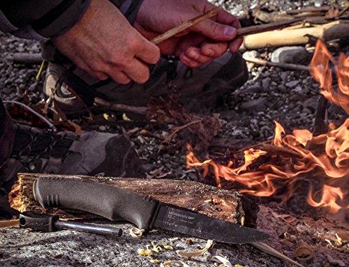 Morakniv-Bushcraft-Carbon-Steel-Survival-Knife-with-Fire-Starter-and-Sheath-Black