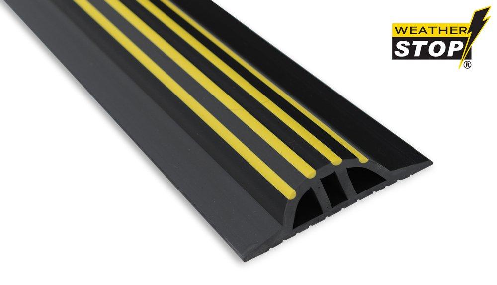 Weather Stop WS009-312 10.3-Inch x 30 mm High Garage Door Threshold Seal Kit - Black